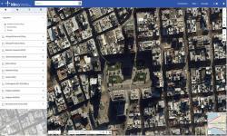 Visualizador IDEuy imagen manzanas de Montevideo zona Plaza Independencia, Torre Ejecutiva.