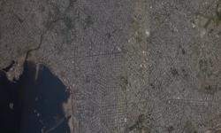 Vista del puerto y zona centro en toma satelital skysat