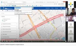 visualizador imagen de servicio de direcciones y a la derecha participantes de la actividad