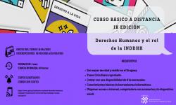 Afiche presentación con datos del curso descriptos anteriormente