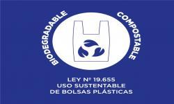 Distintivo bolsas certificadas biodegradables - compostables