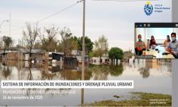 Pantalla de la presentación con fotografía de una inundación