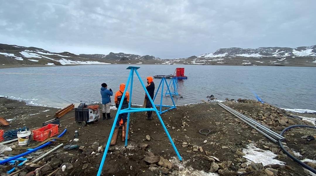 Trabajo en terreno en la Antártida
