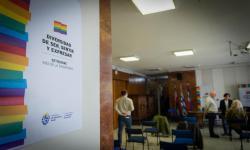 Estética del Mes de la Diversidad 2020 en sede central del MIDES