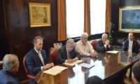Morgan Doyle, Ministro Danilo Astori, Fernando Brum, José Clastornik
