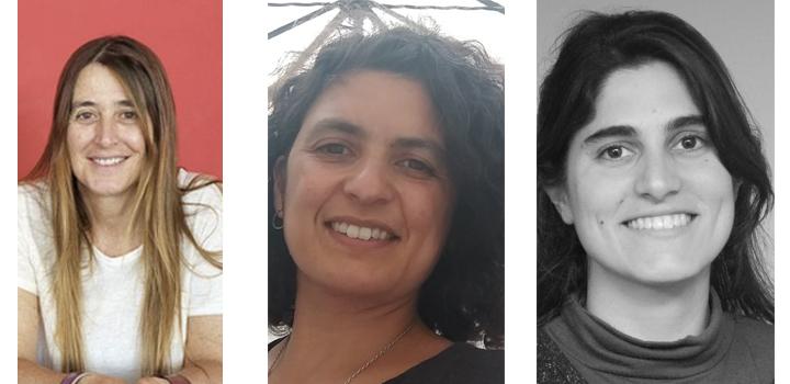 Paula Giuria, Gabriela Fagúndez y Lucía Tayler