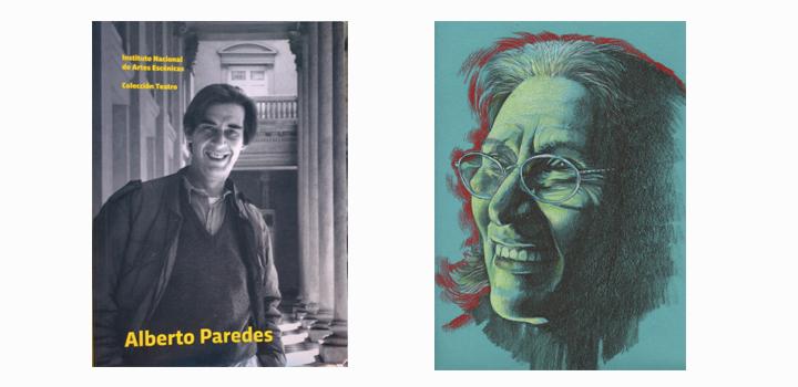 Portada del libro Alberto Paredes y retrato de María Azambuya