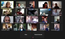 Participantes del encuentro virtual