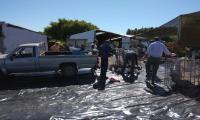 Gente realizando la recolección de residuos
