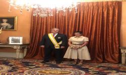Condecoración del Canciller Francisco Bustillo con la Orden de Isabel la Católica en grado Gran Cruz