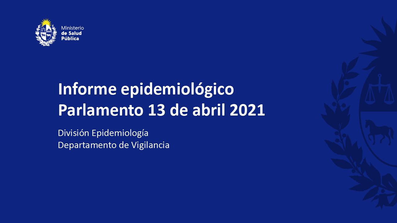 Informe epidemiológico del SARS–CoV-2