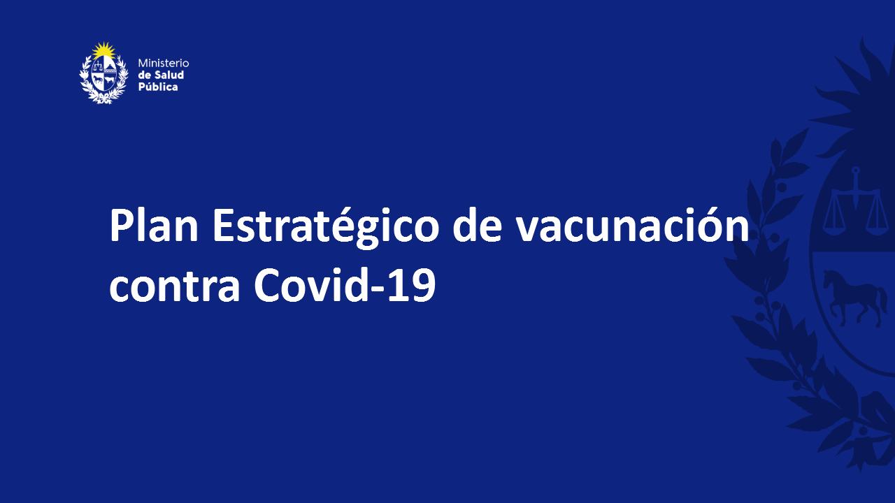 Plan estratégico de vacunación contra COVID-19