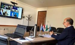 Mieres en reunión virtual con ministros del Mercosur