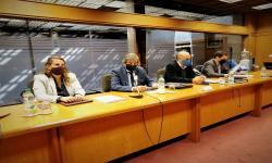 Autoridades del MTSS en Comisión de legislación del trabajo
