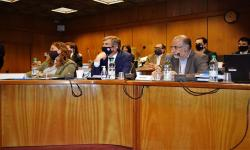 Delegación de MTSS en Parlamento