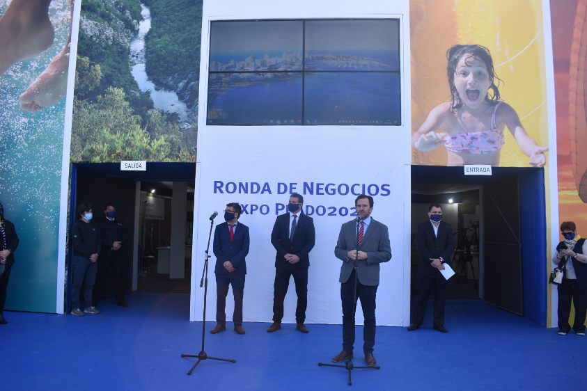 Inauguración del Pabellón del Ministerio de Turismo en Expo Prado 2020