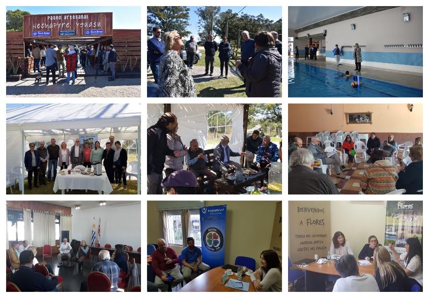 Fotos que engloban las múltiples giras de las autoridades por San José, Flores y Florida