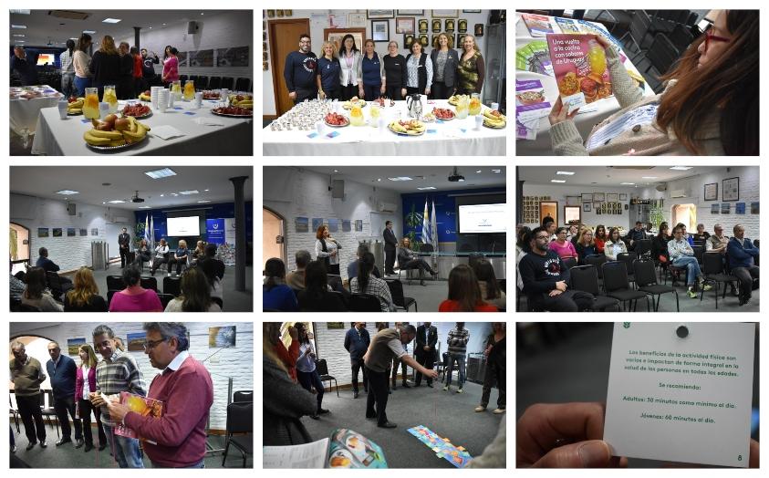 Collage de fotos de la jornada de sensibilización en la sede del Ministerio de Turismo