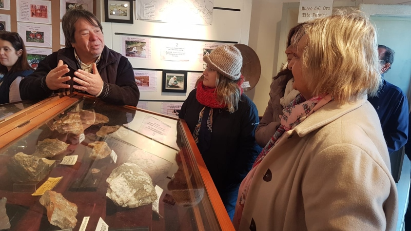Kechichian en el Museo del Oro en Minas Corrales