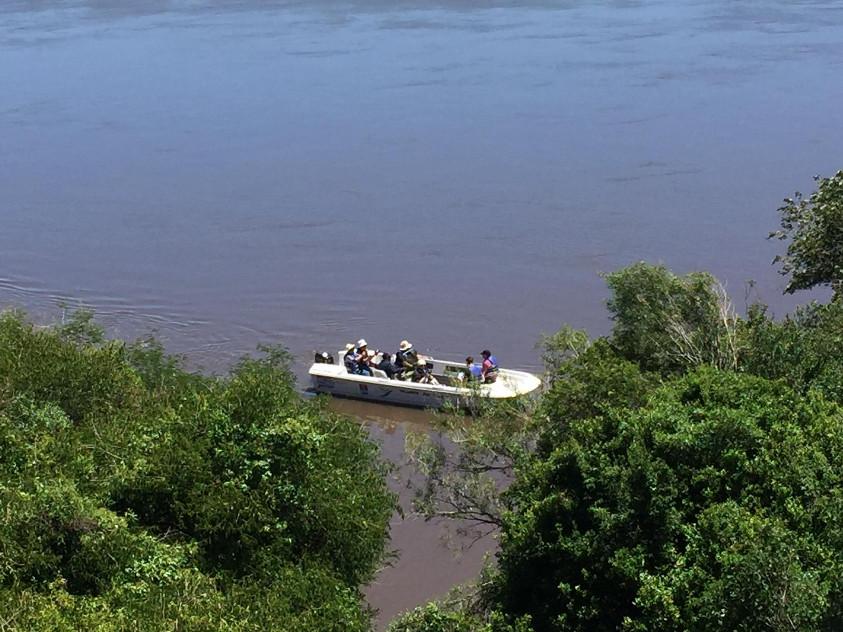 Vista al río desde Mangrullo de Franquía, Bella Unión