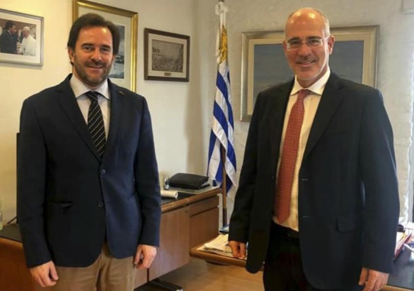 Ministro de Turismo, Germán Cardoso y Embajador de Israel, Yoed Magen