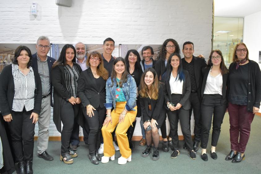 Todos los representantes de los proyectos seleccionados y Fagetti, Netto, Venturiello, Figueroa, Cabrera, Muñiz