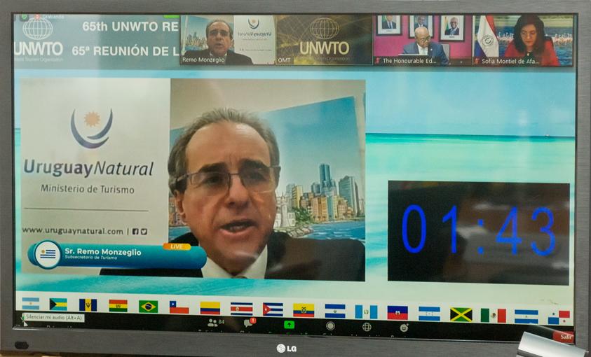 Subsecretario de Turismo Remo Monzeglio en la 65ª Comisión de la Organización Mundial del Turismo para las Américas