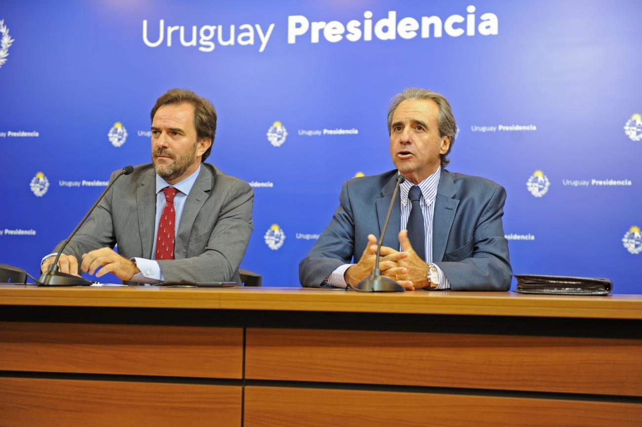 Ministro de Turismo, Germán Cardoso y Subsecretario de Turismo, Remo Monzeglio