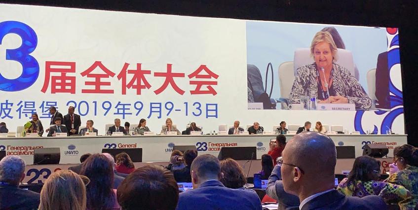 Ministra de Turismo en 23ª Asamblea General de la OMT