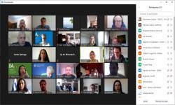Zoom con participantes del taller
