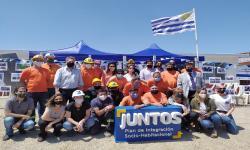 Autoridades y equipo de territorio del Juntos de la intervención Los Hornos