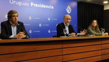 Ministro Pablo Mieres, subsecretario Mario Aritzi y directora Valentina Arlegui