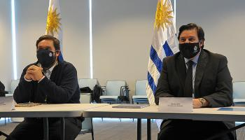 Ministro de Ambiente, Adrian Peña y subsecretario de Ganaderia, Agricultura y Pesca, Juan Ignacio Buffa
