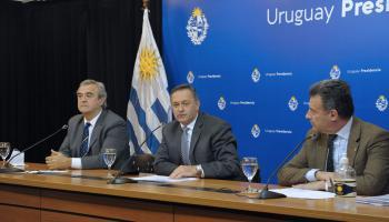 Jorge Larrañaga, Álvaro Delgado y Daniel Salinas