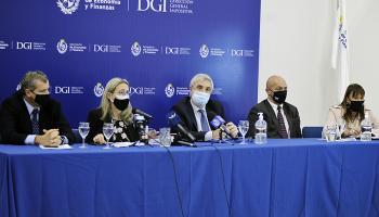Autoridades de MEF, DGI y BPS