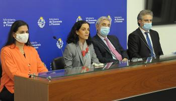 Marcela Bensión, Azucena Arbeleche, Alejandro Irastorza y Herman Kamil