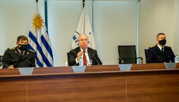 Ministro Luis Alberto Heber en reunión virtual con sus pares del Mercosur