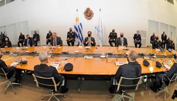 Presidente Lacalle Pou recibió al designado ministro del Interior, Luis Alberto Heber