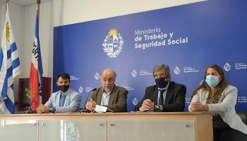 Autoridades del Ministerio de Trabajo y Seguridad Social