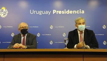 Ministro Pablo da Silveira y presidente del Codicen, Robert Silva