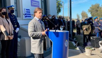 Lacalle Pou en inauguración de sede de Dirección Nacional de Seguridad Rural