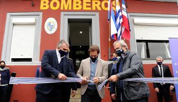 Lacalle Pou, en inauguración de cuartelillo de Bomberos Santa Clara de Olimar