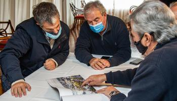 foto:Ministro Luis Alberto Heber, presidente de ANP, Juan Curbelo e intendente Enrique Antía