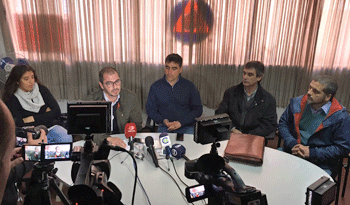 Rueda de prensa de Juan Andrés Roballo, Álvaro García y Andrés Lima