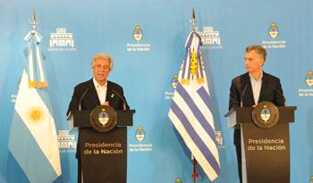 Presidentes de Uruguay y Argentina, Tabaré Vázquez y Mauricio Macri