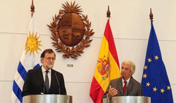 Rajoy y Vázquez en conferencia de prensa
