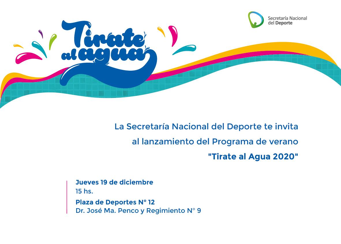 Lanzamiento Tirate Al Agua Secretaría Nacional Del Deporte