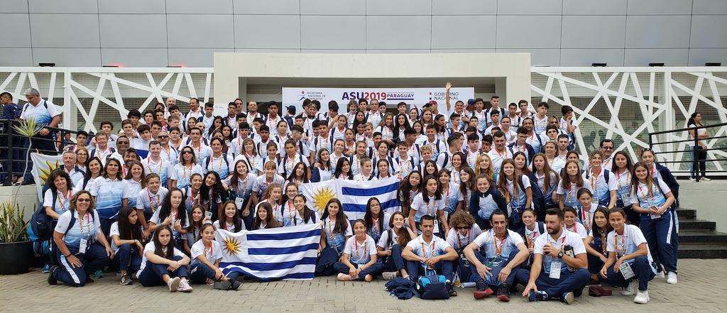 Delegación uruguaya de los Juegos Sudamericanos Escolares