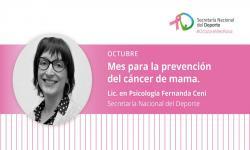 Mes de la prevención del cáncer de mama