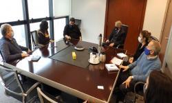 Vista general de la reunión entre el Departamento de Medicina Familiar y Comunitaria, y el Área Salud de UNASEV